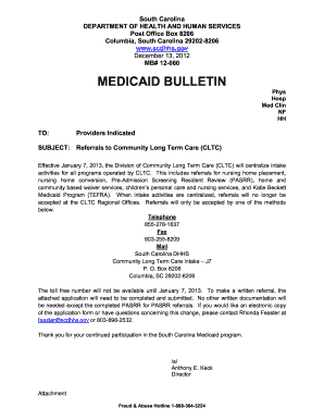 Sc Dhhs Cltc Fax - Fill Online, Printable, Fillable, Blank | PDFfiller