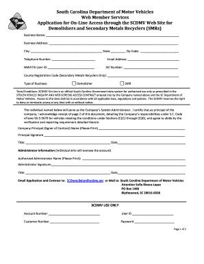 south carolina ebt application online