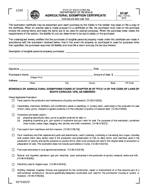 Cottage Laws Exemption Form Sc - Fill Online, Printable, Fillable ...