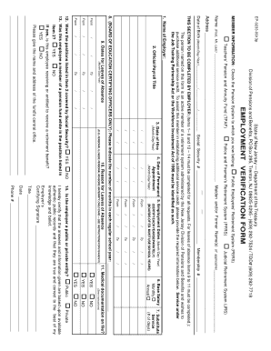 Employment Verification Form Nj - Fill Online, Printable, Fillable ...