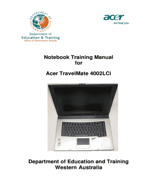 acer laptop travelmate that is used by the department of education rh pdffiller com Acer Aspire V5 User Manual Acer Aspire User Manual