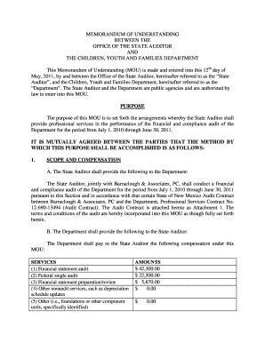 20 Printable memorandum of understanding agreement Forms and