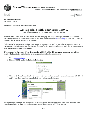 1099 form wisconsin  I Received The Form 11 G Wisconsin - Fill Online ...