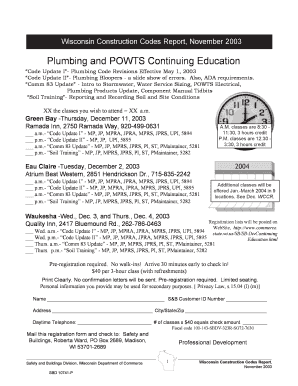 Plumbing and POWTS Continuing Education - Department Of Safety ... - dsps wi