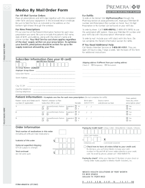 Medco By Mail Order Form - City and Borough of Juneau - bartletthospital