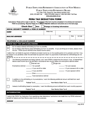 tax deduction form for new employees