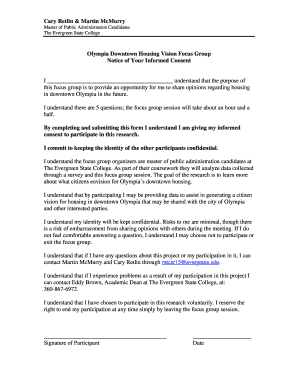 Sample focus group script & consent form - Ace Recommendation ...