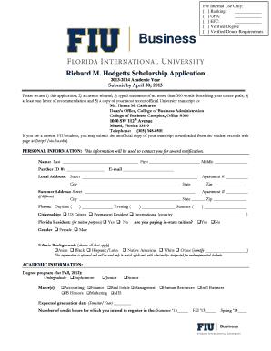 Admission Standards | Admissions | Florida International University
