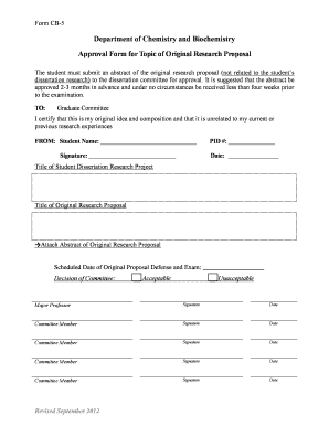 research proposal topic ideas edit print fill out  cb 5 approval form for topic of original research proposal