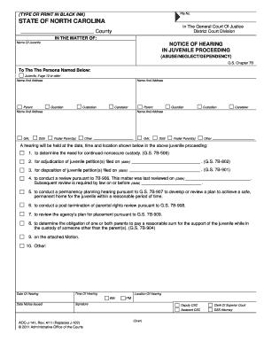 Court dates online nc