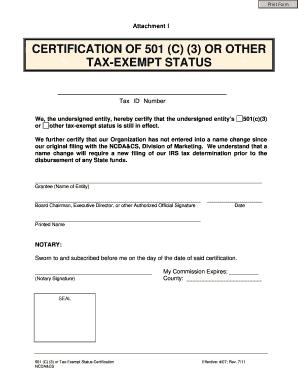 Fillable Online Ncagr 501 C 3 Blank Form Pdf News Update