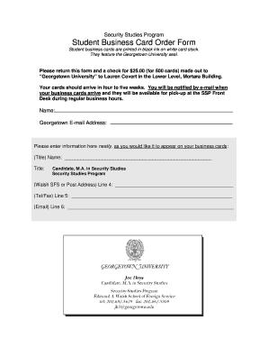 Georgetown university application essay office address