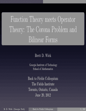 Fillable Online people math gatech Function Theory meets Operator Theory   The Corona Problem and Bilinear Forms - people math gatech Fax Email Print  - ... af688c82b896