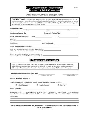 performance appraisal form doc