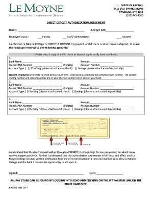 Superior Direct Deposit Authorization Form Bank Of America