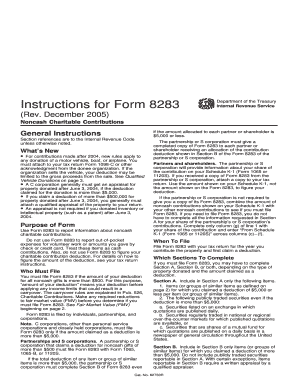 Irs Form 8283 Templates - Fillable & Printable Samples for PDF ...