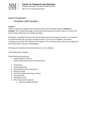 Fillable Grant Proposal Template  Blank Proposal Template