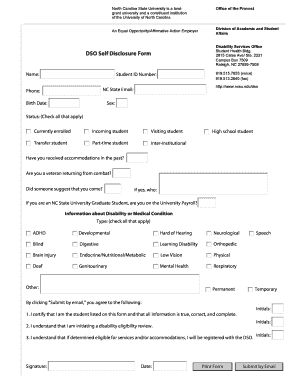 Self Disclosure Of Disability Form New York State - Fill Online ...