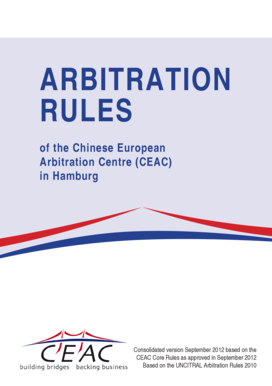 CEAC Arbitration Rules 2012 - cisg law pace