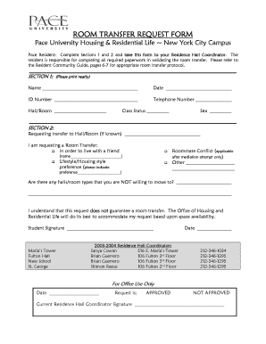 housing transfer request letter - Fillable & Printable