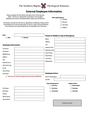 employees information template