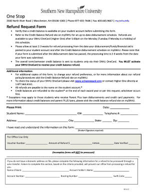 snhu refund schedule When Will Snhu Issue Refund Check - Fill Online, Printable, Fillable ...