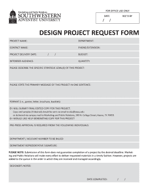 Design Request Form - Fill Online, Printable, Fillable, Blank ...