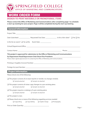 work order form pdf spfldcol