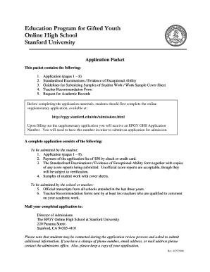 Stanford University Epgy - Fill Online, Printable, Fillable, Blank | PDFfiller