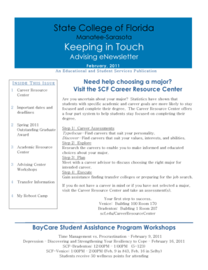 Keeping in Touch - State College of Florida - scf