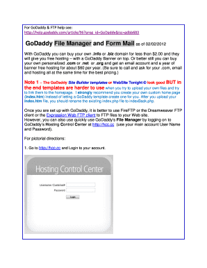 Godaddy Forms Pdf - Fill Online, Printable, Fillable, Blank ...