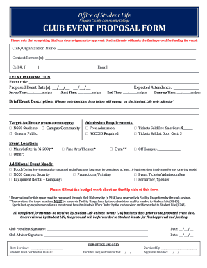 Club event proposal form - Niagara County Community College - niagaracc suny