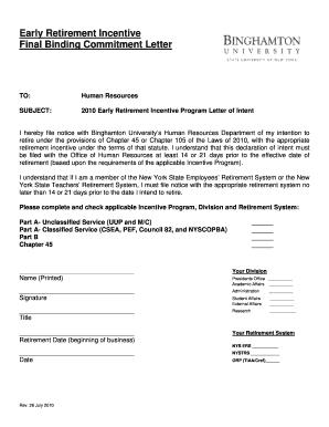 early retirement letter for teachers - Fill, Print