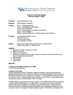 Committee meeting Minutes Template - UB Professional Staff Senate - pss buffalo