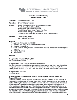 Committee meeting Minutes Template - pss buffalo