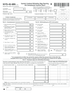 Nys 45 And Nys 45 Mn - Fill Online, Printable, Fillable, Blank ...