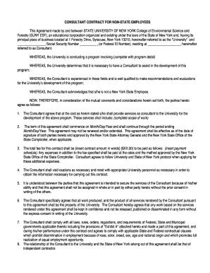 College Consultant Contract