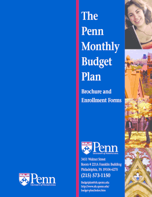 penn monthly budget plan form