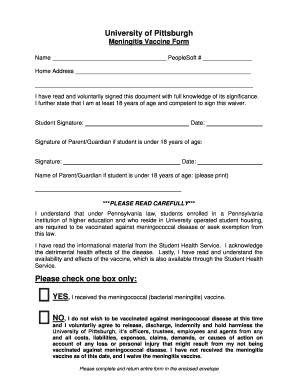 Pitt State Vaccine Waiver - Fill Online, Printable, Fillable ...