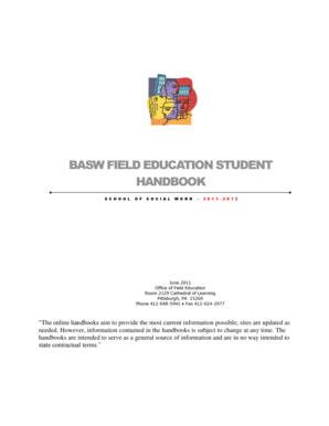 BASW FIELD EDUCATION STUDENT - socialwork pitt