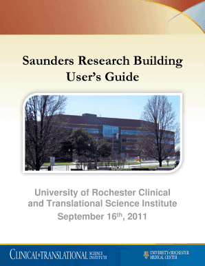fillable online urmc rochester saunders research building user s rh pdffiller com building user guide uk building use guidelines church