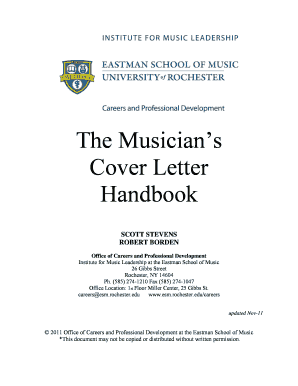Eastman School Of Music Cover Letter