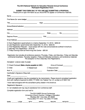 sample of college of education forms