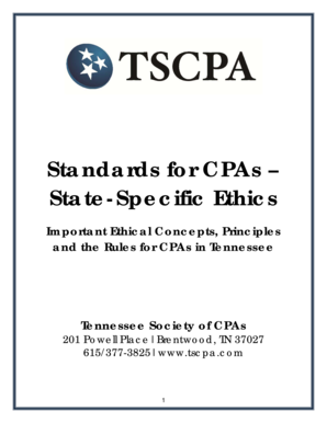 Fillable Online TSCPA On-Site Ethics Course Manual - UT Conference