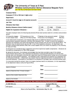 Fillable Online admin utep UTEP Employee Discount Verizon ...