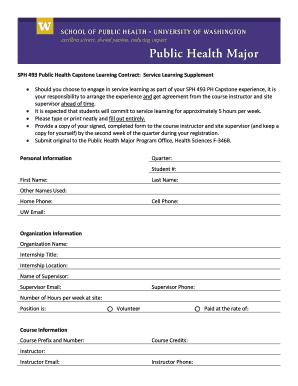 unpaid internship contract template
