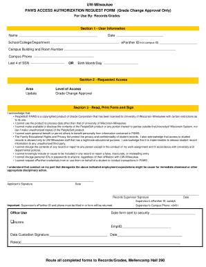Grade Change Form Uw Milwaukee - Fill Online, Printable, Fillable ...