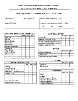 Construction Safety Report Form - Fill Online, Printable, Fillable ...