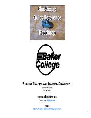 www baker edu blackboard