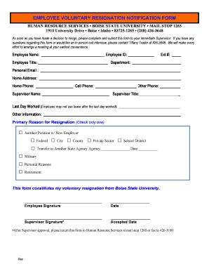 Voluntary resignation form fill online printable fillable blank voluntary resignation form thecheapjerseys Gallery